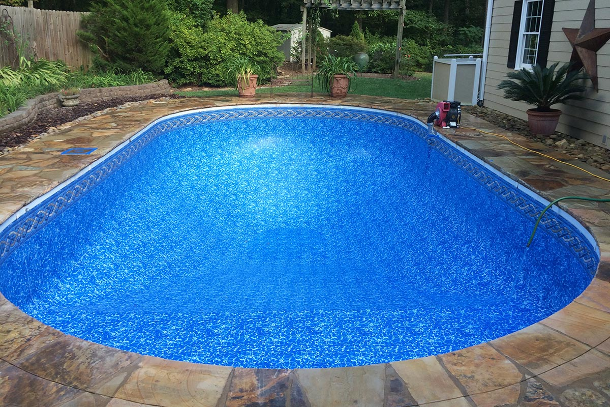 Tan mosaic pool liner related keywords tan mosaic pool for Pool liners